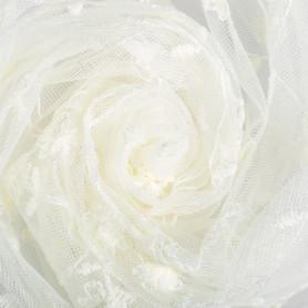 Тюль «Цветы» вышивка 285 см цвет шампань