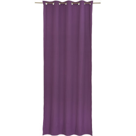 Штора на люверсах «Helena», 140х280 см, цвет фиолетовый