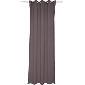 Штора на люверсах «Helena», 140х280 см, цвет серый, коричневый