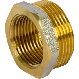 Футорка внутренняя-наружная резьба 1 1/4х1 никелерованная латунь