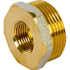 Футорка внутренняя-наружная резьба 1 1/4х1/2 никелерованная латунь