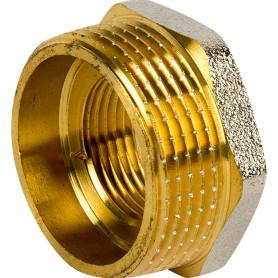Футорка внутренняя-наружная резьба 1 1/4х3/4 никелерованная латунь