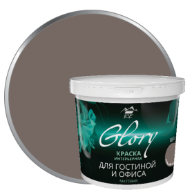 Краска для гостинной Glory 0.9 л, цвет горький шоколад