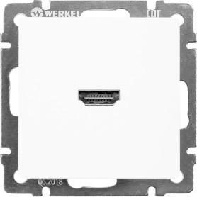 Розетка HDMI встраиваемая Werkel, цвет белый