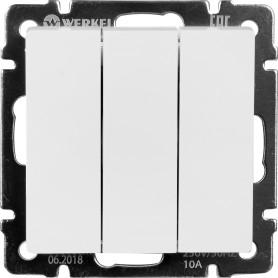 Выключатель встраиваемый Werkel 3 клавиши, цвет белый
