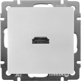 Розетка HDMI встраиваемая Werkel, цвет серебряный