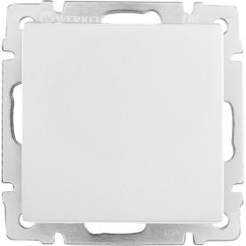 Переключатель промежуточный встраиваемый Werkel 1 клавиша, цвет серебряный