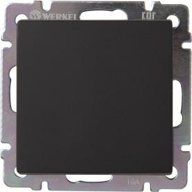Переключатель промежуточный встраиваемый Werkel 1 клавиша, цвет чёрный