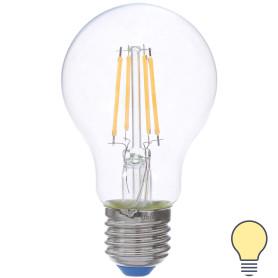 Лампа светодиодная филаментная Airdim, форма стандартная, E27 7 Вт 700 Лм свет тёплый