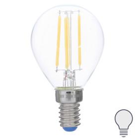 Лампа светодиодная филаментная Airdim, форма шар, E14 5 Вт 500 Лм свет холодный