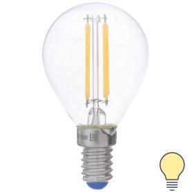Лампа светодиодная филаментная Airdim, форма шар, E14 5 Вт 500 Лм свет тёплый