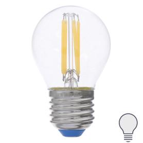 Лампа светодиодная филаментная Airdim, форма шар, E27 5 Вт 500 Лм свет холодный