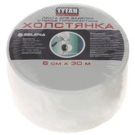 Лента для заделки стыков 6 см х 30 м цвет белый