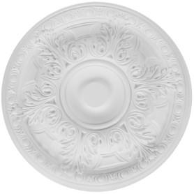 Розетка потолочная полиуретан Decomaster DR 309 d белая диаметр 50 см