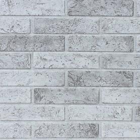 Панель ПВХ листовая 0.3 мм 962х499 мм Кирпич серый 0.48 м²