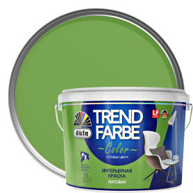 Краска для стен и потолков Trend Farbe цвет Зеленое яблоко 1 л