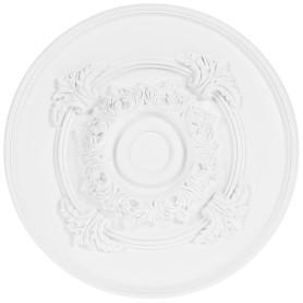 Розетка потолочная полиуретан Decomaster DM-0361 d белая диаметр 35 см
