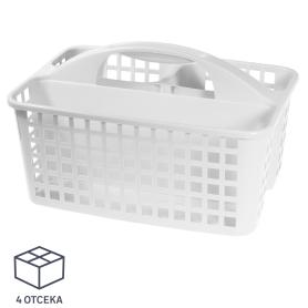 Органайзер-переноска, 230х185х310 мм, пластик, цвет белый