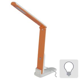 Рабочая лампа настольная светодиодная Camelion KD-808 C37 «Fold», цвет белый/оранжевый