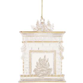 Украшение ёлочное «Камин», 11 см, полистирол