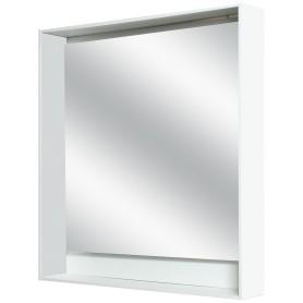 Зеркало с подсветкой «Мокка» 80 см, цвет белый глянец