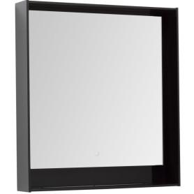 Зеркало с подсветкой «Мокка» 80 см, цвет чёрный глянец