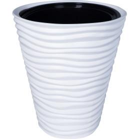 Кашпо Idea Дюна ø34 h38.5 см v19.5 л пластик белый