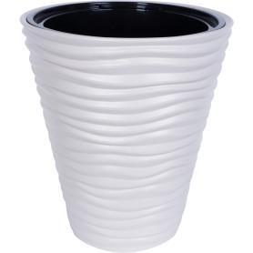 Кашпо Idea Дюна ø34 h38.5 см v19.5 л пластик кремовый