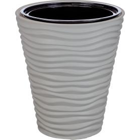 Кашпо Idea Дюна ø34 h38.5 см v19.5 л пластик серый