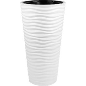 Кашпо цветочное «Дюна», D34, 42л. пластик, Белый