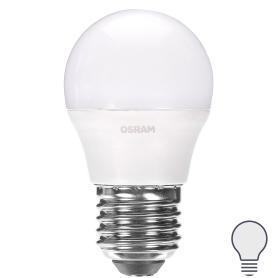 Лампа светодиодная Osram «Шар», E27, 6.5 Вт, 550 Лм, свет холодный белый