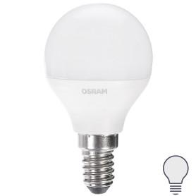 Лампа светодиодная Osram «Шар», E14, 6.5 Вт, 550 Лм, свет холодный белый