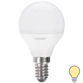 Лампа светодиодная Osram «Шар», E14, 6.5 Вт, 550 Лм, свет тёплый белый