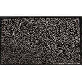 Коврик Fiesta, 45x75 см, полипропилен/резина, цвет серый/чёрный