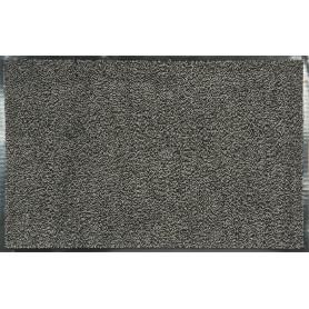 Коврик Fiesta, 60x90 см, полипропилен/резина, цвет серый/чёрный
