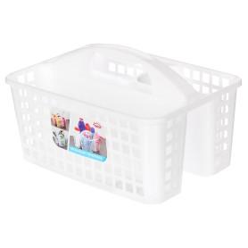 Органайзер-переноска для ванной, 23х18.5х31 см, цвет прозрачный
