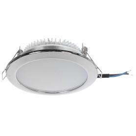 Светильник светодиодный встраиваемый «Премиум», 8 Вт, 550 Лм, 220 В, цвет хром, свет тёплый белый/нейтральный/холодный белый