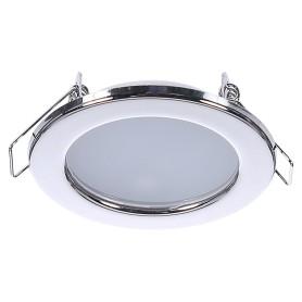 Светильник светодиодный встраиваемый «Стандарт», 4 Вт, 280 Лм, 220 В, цвет хром, свет дневной белый