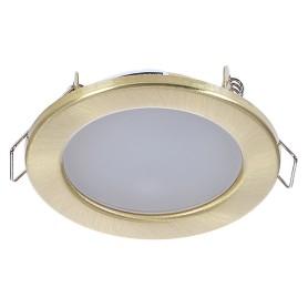 Светильник светодиодный встраиваемый «Стандарт», 4 Вт, 280 Лм, 220 В, цвет бронза, свет дневной белый