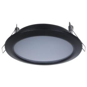 Светильник светодиодный встраиваемый «Стандарт», 6 Вт, 550 Лм, 220 В, цвет чёрный, свет дневной белый