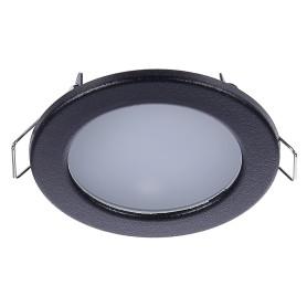 Светильник светодиодный встраиваемый «Стандарт», 4 Вт, 280 Лм, 220 В, цвет чёрный, свет дневной белый