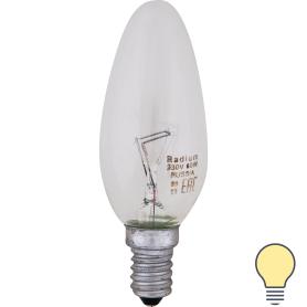 Лампа накаливания Radium «Свеча», E14, 60 Вт, прозрачная колба