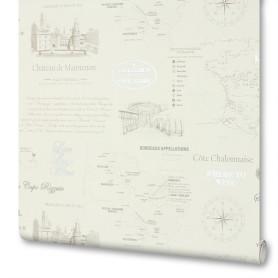 Обои флизелиновые Victoria Stenova Maps бежевые 1.06 м 998726