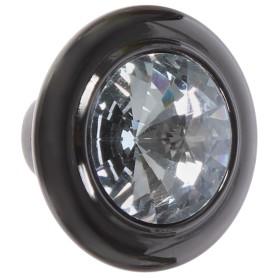 Ручка-кнопка CRL35, ЦАМ, цвет чёрный хром