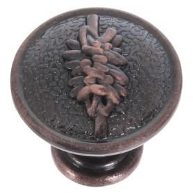 Ручка-кнопка RK-001, ЦАМ, диаметр 27 мм, цвет медь