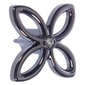 Ручка-кнопка CRL33, ЦАМ, цвет чёрный хром