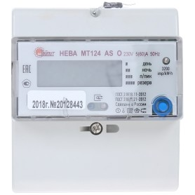 Счётчик электроэнергии Нева МТ 124 ASO 5(60)А, однофазный