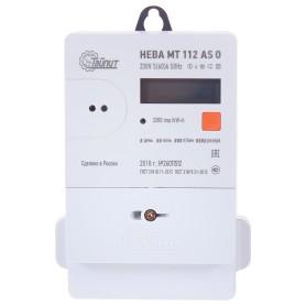Счётчик электроэнергии Нева МТ 112 AS O 5(60)А, однофазный