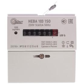 Счётчик электроэнергии Нева 103 1SO 5(60)А, однофазный