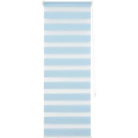 Штора рулонная день-ночь Inspire, 50х160 см, цвет голубой